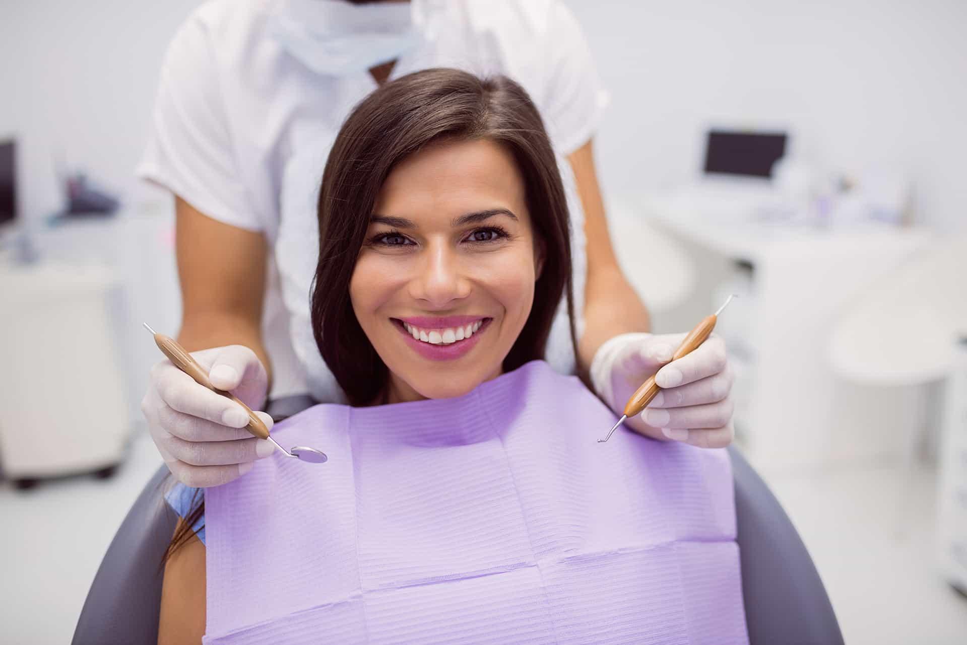 patient getting laser gum treatment etobicoke